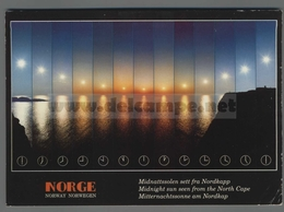 V9659 NORWAY MIDNIGHT SUN SEEN FROM THE NORTH CAPE VG - Norvegia