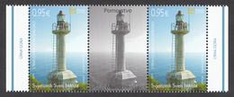 Montenegro 2019 Lighthouse Saint Nicola Architecture Maritime Middle Row MNH - Montenegro