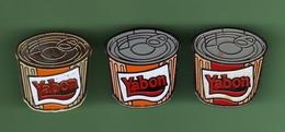 YABON *** Lot De 3 Pin's Differents *** 2018 - Alimentation