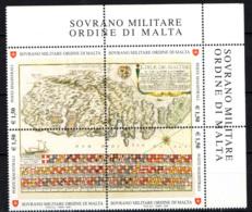 SMOM - 2008 - ANTICHE TAVOLE GEOGRAFICHE - CARTA DEL XVII SECOLO DELL'ISOLA DI MALTA - MNH - Sovrano Militare Ordine Di Malta