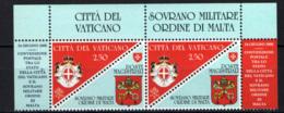 SMOM - 2008 - CONVENZIONE POSTALE CON LA CITTA' DEL VATICANO - EMISSIONE CONGIUNTA - MNH - Sovrano Militare Ordine Di Malta