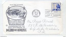 L4E037 CANADA FDC 300th Anniversary Of Dollard Des Ormeaux Ottawa 19 05 1960 - Sobre Primer Día (FDC)