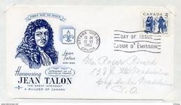 L4E047 CANADA FDC Jean Talon Ottawa 13 06 1962 - Premiers Jours (FDC)