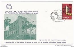 L4F098 ISRAEL FDC Inauguration De La Maisdon Du Soldat Haifa 27-01-1976 Israel Defence Forces 0,15 - FDC