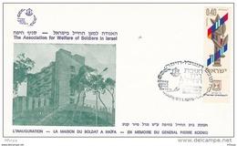L4F101 ISRAEL FDC Inauguration De La Maisdon Du Soldat Haifa 27-01-1976 Israel 0,40 - FDC