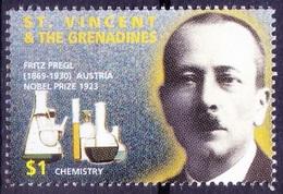 St. Vincent & Gr. 1995 MNH, Fritz Pregl Nobel Chemistry Winner - - Nobel Prize Laureates