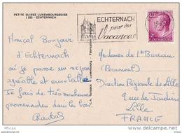 L4G059 LUXEMBOURG CP Echternahc Pour Lille France 07-09-1968 OMEC Illustrée - Lettres & Documents