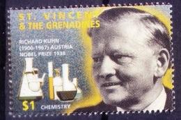 St. Vincent & Gr. 1995 MNH, Richard Kuhn Nobel Chemistry Winner   - 2.55 $ - Nobelpreisträger