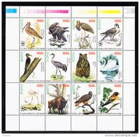 LABEL BELARUSIA, BIRDS WWF. ** MNH (4V92) - Vignettes De Fantaisie