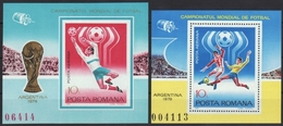 Rumänien 1978 - Mi-Nr. Block 149-150 ** - MNH - Fussball / Soccer - 1948-.... Republiken