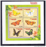 LABEL COMMONWEALTH OF DOMINICA, BUTTERFLY. ** MNH (4V102) - Vignettes De Fantaisie