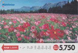Carte Prépayée Japon - FLEUR - COSMOS -  FLOWER Japan Prepaid Bus Card - BLUME - Nishi 2494 - Bloemen