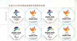 China 2019 Z-52 Emble Of BeiJing 2022 Olympic Winter Game And  Paralympic Winter Game And Volunteer Stamps Block - Ongebruikt