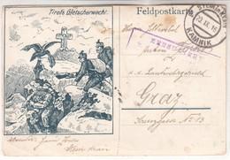 4953  K .U. K     FELDPOSTKARTE    TIROLS  GLETSCHERWACHT   GRAZ-KAMNIK 1916 - Briefe U. Dokumente