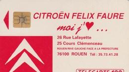 TELECARTE 120....CITROEN FELIX FAURE LOI J'AIME...ROUEN - Francia