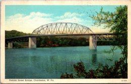 West Virginia Charleston Patrick Street Bridge 1942 Curteich - Charleston
