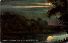 Kentucky Covington Moonlight On Licking River 1912 - Covington