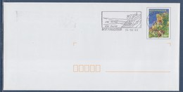 = Rocamadour Cité Vertige, Cité Sacrée, Flamme Le 24.10.02 Sur Enveloppe Entier De Rocamadour N°3492 - Mechanical Postmarks (Advertisement)