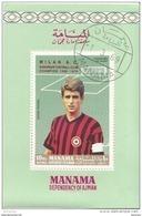 Manama 1969 Calcio Soccer MILAN Gianni Rivera Perf. Preobliterato Italy - Manama