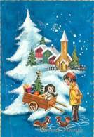 Bonne Année - Paysage Enfant Chien Ecureuil   U 5 - Año Nuevo