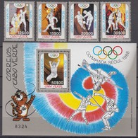 Cape Verde (Cabo Verde) 26.12.1988 Mi # 553-56 Bl 14 Seoul Summer Olympics MNH OG - Verano 1988: Seúl