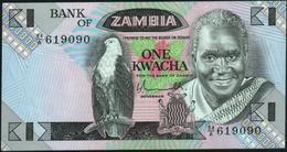 ZAMBIA - 1 Kwacha Nd.(1980-1988) AU-UNC P.23 A - Zambie