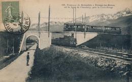 J8 - 38 - GRENOBLE - Isère - Tramway De Grenoble à Uriage - Près De La Croix Rouge - Ligne De Chambéry - Grenoble