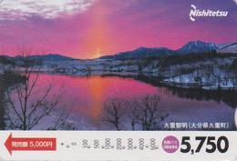 Carte Prépayée Japon - Paysage - COUCHER DE SOLEIL - SUNSET - Landscape Japan Prepaid Bus Card - Nishi 216 - Landscapes