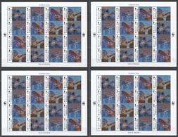 SS450 GIBRALTAR ANIMALS & FAUNA WWF BATS #1832-5 !!! MICHEL 192 EURO !!! 30% OFF !!! 4SH MNH - W.W.F.