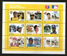 GRENADA 1988 BASE-BALL   YVERT  N°1675/83  NEUF MNH** - Baseball