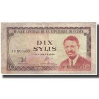 Billet, Guinea, 10 Sylis, 1971, 1960-03-01, KM:16, SUP - Guinée
