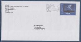 """= Blaye Cité Et Vignoble Historiques 11.6.01 Sur Enveloppe Entier Magritte """"Le Retour"""" N°3145 - Oblitérations Mécaniques (flammes)"""