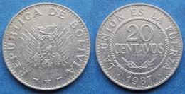 BOLIVIA - 20 Centavos 1987 KM# 203 Monetary Reform (1987) - Edelweiss Coins - Bolivia