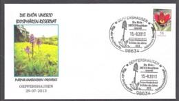 3.- GERMANY ALLEMAGNE 2013, Biosphere Reserve. UNESCO. Lady Orchid (Orchis Purpurea) - Orquideas