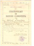 CERTIFICAT DE BONNE CONDUITE - 2è REGIMENT D'ARTILLERIE DIVISIONNAIRE  -14è CORPS D'ARMEE-1930 - Documents