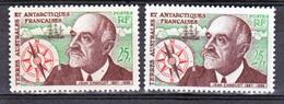 TAAF    19 Charcot Variété Boussole Aiguille Rouge Et Noire  Neuf ** MNH Sin Charmela - Tierras Australes Y Antárticas Francesas (TAAF)