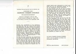 DP 9080 - EERWAARDE HEER GEORGES VANDER STICHELE - GULLEGEM 1922 + BRUGGE 1988 - Devotion Images