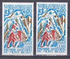 TAAF    61 Ross Variété éclaboussé De Bleu Alpinistes Bleus Et Normal Rouge Neuf ** MNH Sin Charmela - Tierras Australes Y Antárticas Francesas (TAAF)