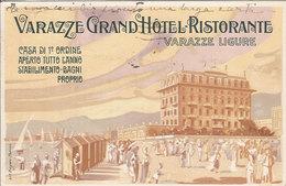 (C).Varazze(SV).Pubblicitaria Del Grand Hotel. F.to Piccolo.Viaggiata (c17) - Savona