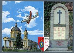 °°° Cartolina - Torino Superga Basilica E Lapide Sciagura Aerea Viaggiata °°° - Churches