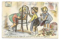 ILLUSTRATEUR Germaine BOURET..- Dites Patronne,..c'est Bien Avec Ce Crayon-là Qu'on Fait Les Queues Aux Zéros ?..2 Scans - Bouret, Germaine