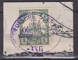 Stempel Deutsche Seepost Hamburg West Afrika Linie XXXII In Violett Auf Togo 5 Pf 1900 Michel 8 Auf Kartenteil - Colony: Togo
