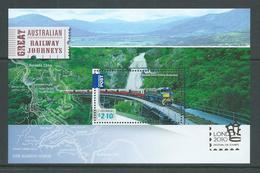 Australia 2010 London Stamp Show Overprint On Train Miniature Sheet MNH - Mint Stamps