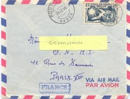 A.E.F. PORT-GENTIL GABON TàD 26.12.58 10e ANNIVERSAIRE DECLARATION UNIVERSELLE DES DROITS DE L'HOMME 20 F. YT 245 - A.E.F. (1936-1958)