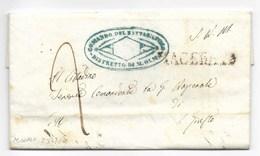REPUBBLICA ROMANA - DA MONTOLMO A S.GIUSTO - 2.3.1849. - ...-1850 Préphilatélie