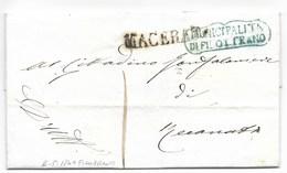 REPUBBLICA ROMANA - DA FILOTTRANO A RECANATI - 2.5.1849. - ...-1850 Préphilatélie