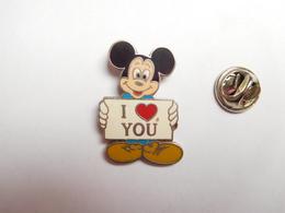 Beau Pin's En EGF , Disney , Mickey , I Love You , Cœur , ATTENTION : éclat Dans L'émail - Disney