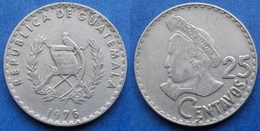 GUATEMALA - 25 Centavos 1976 KM# 272 Reform Coinage (1925) - Edelweiss Coins - Guatemala