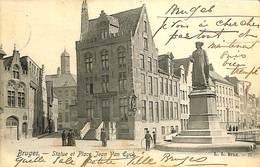 CPA - Belgique - Brugge - Bruges - Statue Et Place Jean Van Eyck - Brugge