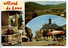 CPSM  10.5 X 15  Isère  VILLARD DE LANS  Altitude De 1040 à 2000m    Une Fontaine  Vue Générale  La Place - Villard-de-Lans
